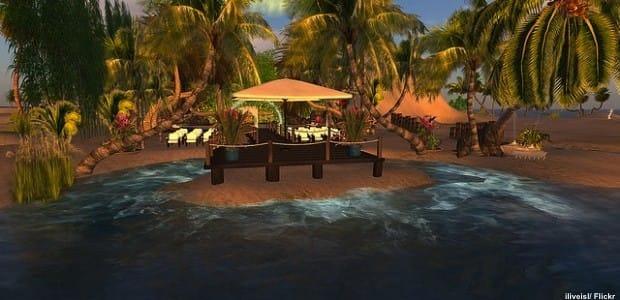 Virtual Beach House on Second Life